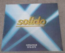 Catalogue Solido 1978 1979 : Miniatures 1/43 voitures pompiers camion militaire