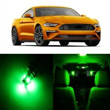 9 x Green LED Interior Light Package For 2015 - 2019 Ford Mustang + PRY TOOL