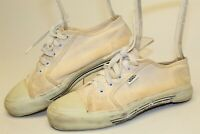 Vintage 80's VANS Womens 6 Canvas Low Lace Up USA Made Skateboard Sneakers Shoes