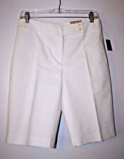 Womens White Cotton Spandex Dana Shorts by Nue Options Essentials Size 6