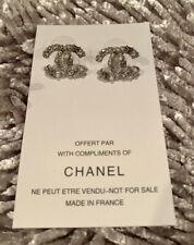 Chanel Silver CC Earrings