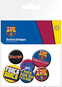 Barcelona f. C. Pack 6 Rund Anstecknadeln (Ge)
