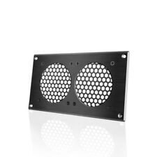 """AC Infinity Ventilation Grill 8"""" PC Electronic AV Cabinets, mounts Two 80mm Fans"""