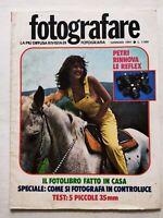 FOTOGRAFARE GENNAIO 1-1981 FOTOLIBRO - FOTO IN CONTROLUCE - PETRI RIVISTE