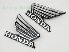 Chrome 3D ABS Wing Fuel Tank Badge Emblem Decal Sticker Custom For Honda Motors