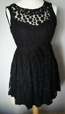 BE BEAU Matalan Size 12 Black Part Lace Look A Line Party Sleeveless Lined Dress
