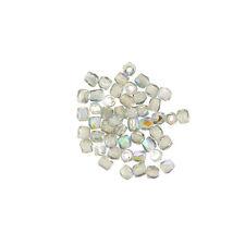 2mm Fire Polished True2™ Czech Glass Beads Crystal Blue Rainbow PK50 (L69/8)
