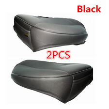 2Pc PU Leather 3D Full Surround Car Seat Protector Seat Cover Accessories Black