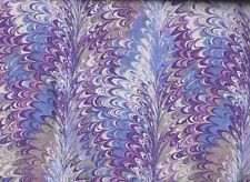 BTY Purple, Gray & White OIL SLICK Print 100% Cotton Quilt Craft Fabric by Yard