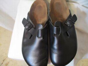 New Size 46 (Size 11.5) Black BIRKENSTOCK Leather Clogs-NWOT