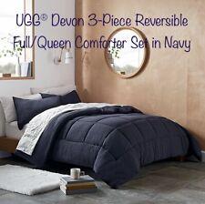 Ugg® Devon 3-Piece Reversible Full/Queen Comforter Set in Navy 90�x 90�