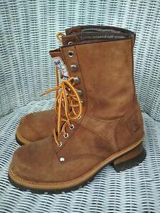 Damenschuhe Stiefeletten Original Worker Boots Prime Gr41 braun Stiefel Leder