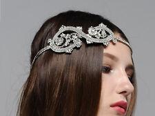 Boho Bridal Headband Rhinestone Forehead Headband
