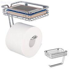 Toilet Paper Holder Bathroom Shelf Wall Mount Tissue Roll Hanger New
