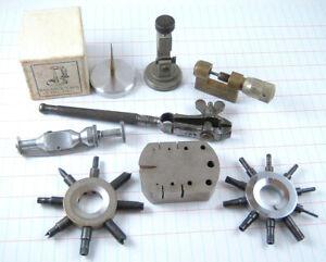 Vintage Watchmaker Watch Repair Tool Lot K&D Vigor Hugoniot Tissot HR Swiss LG