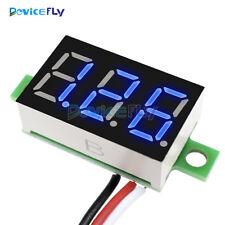 """DC 0-30V 3 Wires 0.36"""" Blue LED Panel Voltage Meter 3-Digital Display Voltmeter"""