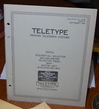 Teletype Printing Telegraph Systems Bulletin #1143B -Issue 3 - Parts