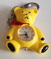 Boy's or girl's Cool Yellow POLAR BEAR clip on keychain fashion watch