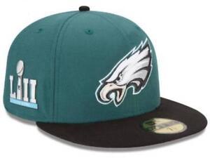 NFL Superbowl Super Bowl LII 52 Philadelphia Eagles New Era 59FIFTY Fitted Hat