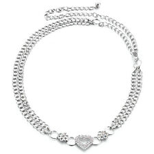 Womens Ladies Silver Diamante/Diamond Waist Chain Buckle Metal Fashion Belt 227