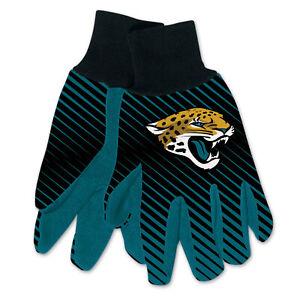 NEW Licensed Football Blue & Black Jacksonville Jaguars Gripped Utility Gloves