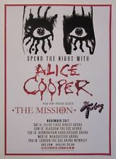 Alice Cooper Uk tour November 2017 promo concert poster / London Arena Wembley