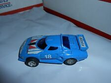 VTG 1980'S ZEE GRIPPERS RACING SERIES LANCIA PULL BACK CAR #18 BLUE ALITALIA