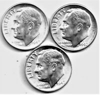 1947 PDS 90% Silver Roosevelt Dime AU / BU Uncirculated with Free Shipping