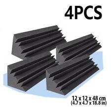 4× Corner Bass Trap Studio Soundproofing-Acoustic Foam Treatment 12*12*48cm Set