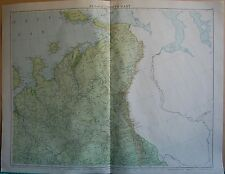 1919 LARGE MAP- EUROPE-RUSSIA NORTH EAST