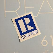 "Realtor R Realty Blue Home Selling Registered 3"" TALL Custom Vinyl Decal Sticker"