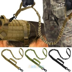 Retractable Tactical K9 Nylon Dog Leash with Metal Buckle Military Training Rope