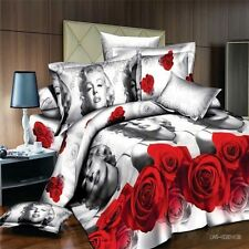 2017 Chic Marilyn Monroe 3D King 4pc Bedding Set Quilt Duvet Cover 2Pillow Cases