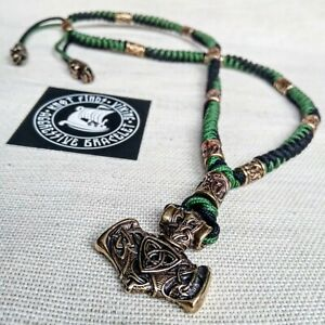 Mens Necklace. Paracord jewelry. Runic choker