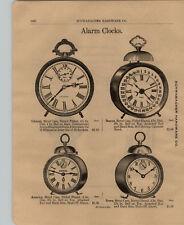 1903 PAPER AD Early Vintage Colonial Beacon Rome American Alarm Clock Calendar