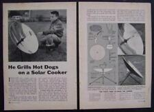 Parabolic Solar Cooker from dish antenna How-To build PLANS Sun Cooker Grill