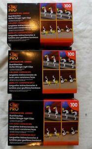 Titan Pro Commercial Grade Dual-Direction Gutter-Shingle Light Clips  Value pack