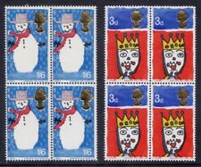 1966 - CHRISTMAS - SET - MNH .IN BLOCKS OF 4..UNMOUNTED MINT