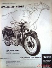 1960 Motor Cycle ADVERT - B.S.A. 'Super Rocket' (£273-16s-5d) Print AD