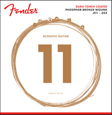 Fender 860CL Phosphor Bronze Dura-Tone® Coated Acoustic Guitar Strings 11-52