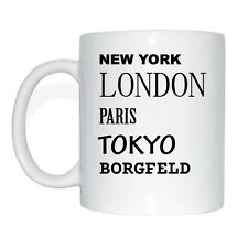 New York, London, Paris, Tokyo, BORG BOX Cup Of Coffee