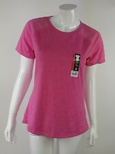 Athletic Works Womens Size Small Pink Solid Semi Fitted Short Sleeve Top NWT