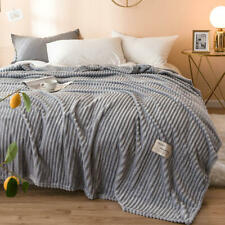 Comfortable Blankets for Beds Solid Soft Warm Flannel Blanket Sheeting 180x200cm