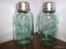 Mason Jar Salt and Pepper Shakers Country Kitchen S & P Shakers Vintage Style