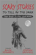 Scary Stories to Tell in the Dark: Three Books...by Alvin Schwartz  HARDCOVER...