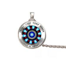 Iron Man, Tony Stark Tibet Glass Dome Necklace Chain Pendant Endgame Avengers