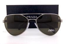 Brand New Prada Sunglasses PR 55RS 75S 4J1  Brushed Gunmetal/Solid Grey For Men