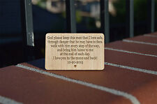 Personalized Custom wallet insert,Love Quote Wallet Insert,Wooden Wallet Insert