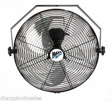 "Ventamatic Maxxair 18"" Wall Mounted Steel Heavy D Fan HVWM18 MADE IN USA 162086"
