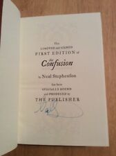 SIGNED by Neal Stephenson - The Confusion Vol. 2 The Baroque Cycle HC Limited